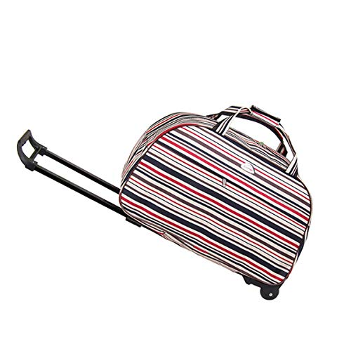 (Luggage, Light Carrying With Rolling Luggage, Canvas Bag, 23 Inches, Striped Color, College Bag Business Travel Backpack, Perfect For Carrying Short-term Travel Weekend, Is A Great Gift For Travelers)