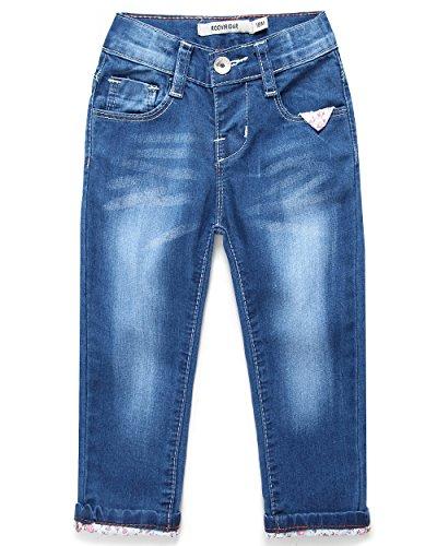 ROOVIRIDAR Baby Girls' Jeans Toddler Baby Clothes Denim Pants 1105 (24M, Light Blue) 24 Baby Denim Jeans
