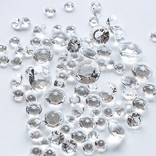 (1728pcs Mixed Sizes gems confetti Culet Faceted Crystal Diamond)