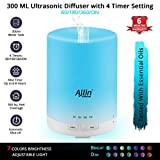 Allin Exporters Ultrasonic Diffuser And Humidifier Different Colorful Led Light Modes 300 Ml Water Tank For 6-8 Hours Continuous Operations (300 ML)