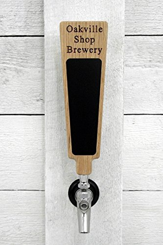 - Custom personalized beer tap handle with Premium Surface marker board. Engraved with your personalized text. Great for tap rooms, breweries and home kegerators.