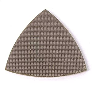 Specialty Diamond BRTRI400 400 Grit Electroplated Diamond Triangular Polishing Pad For Oscillating Tools