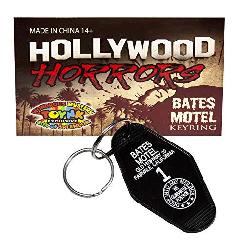Bates Motel Keychain | Small Key Tag from the Iconic Movie Psycho | Horror Movie Collectible ()