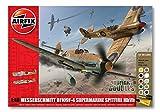 Airfix Dogfight Double Spitfire MkVB/Messerschmitt Bf109F Gift Set (1:48 Scale)