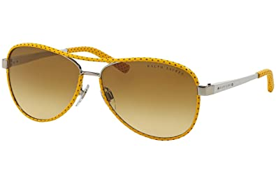 Amazon.com: Ralph Lauren anteojos de sol RL 7050q plateado ...