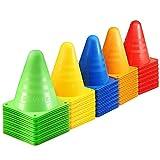 Kevenz® 6 Inch Multi-color Plastic Sport Traffic Soccer Cones(Red / Yellow / Blue / Green / Orange)