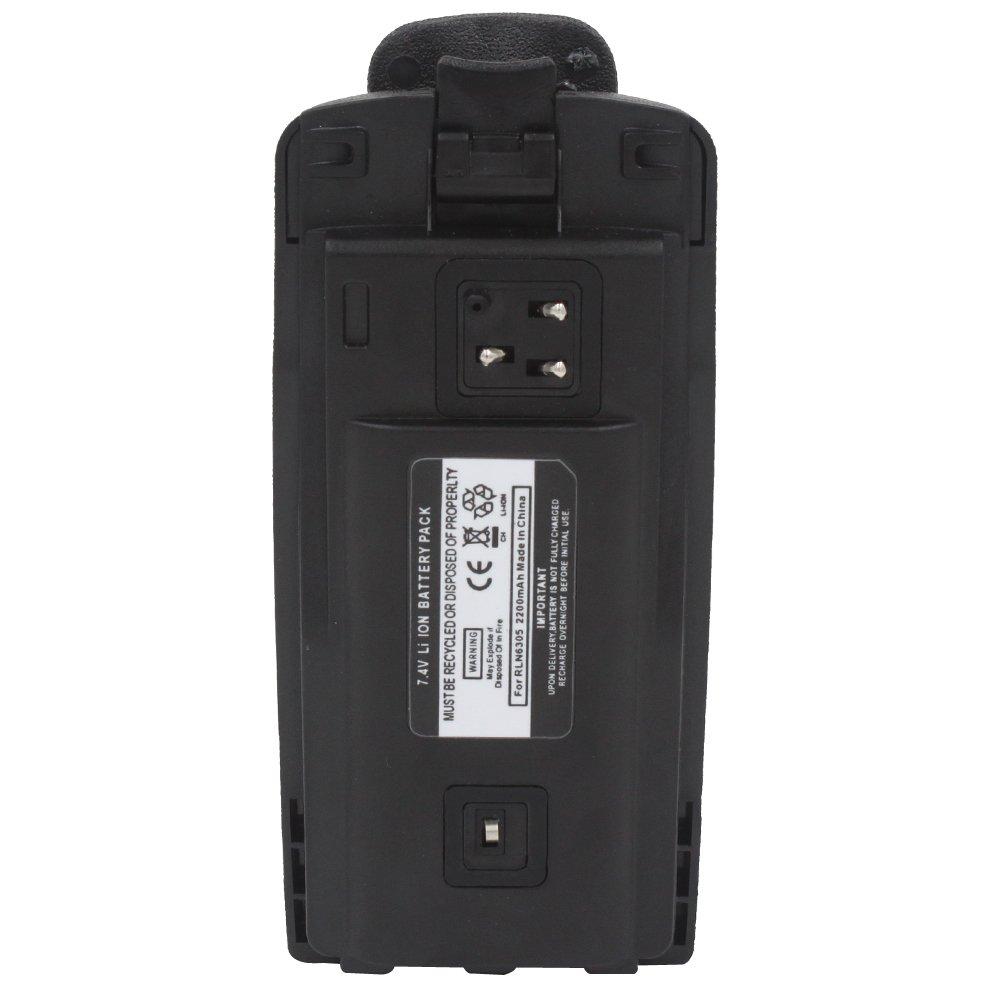 AOER 2200mAh Li-ion Replacement Battery with Belt Clip For Motorola Radio RDU2080D RDU4100 RDU4103 RDU4160 RDV2020 RDV2080D RDV5100