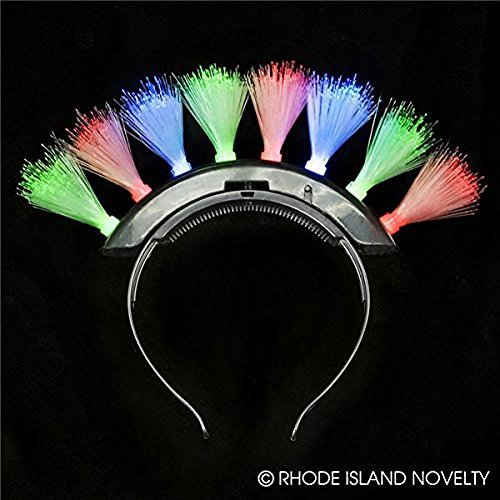 Mohawk LED Fiber Optic Headband -