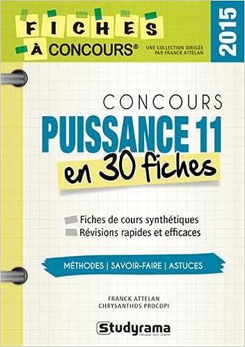 Best-sellers gratuits à télécharger Concours Puissance 11 en 30 fiches PDF RTF