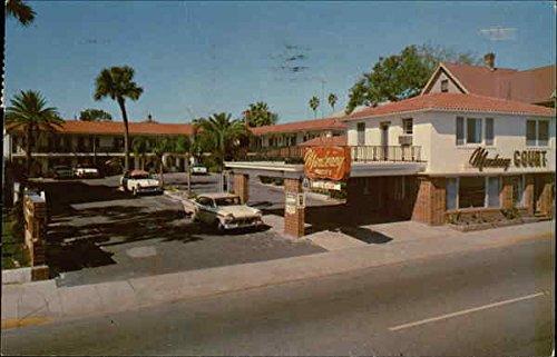 Monterey Court, 16 Bay Street St. Augustine, Florida Original Vintage Postcard