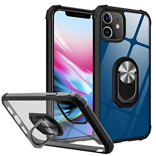 Yayoii Compatible with iPhone 12 Case/iPhone 12 Pro Case, Military Grade Protection with Rotating Holder Kickstand, 4…