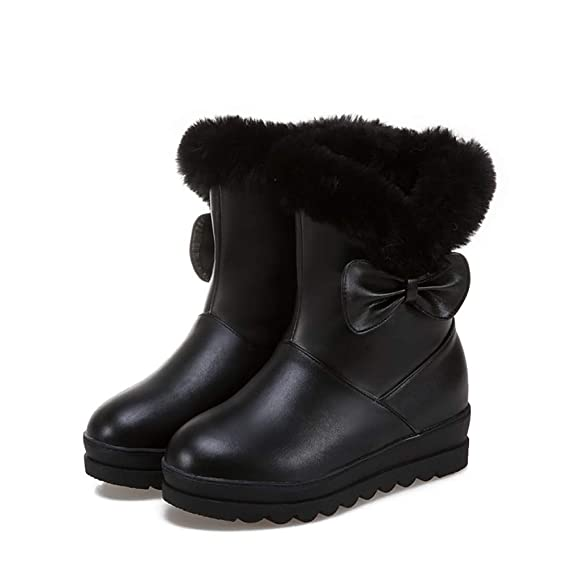 Snow Pu Bottom New Thick Artificial Zapatos Mujer Boots De gqwC60