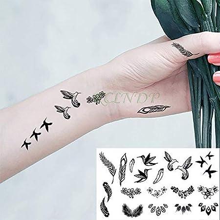 5pcs Impermeable del Tatuaje Sticker Birds Kingfisher Hummingbird ...