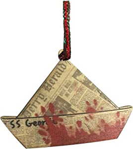 SS Georgie Boat Scary Clown Horror Movie Laser Engraved Printed Wooden Christmas Ornament Gift Seasonal Decoration, for Him, for Her, for Boys, for Girls, for Husband, for Wife, for Them, for Men,