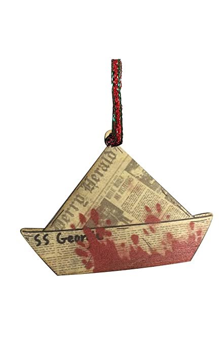 Horror Christmas Ornaments.Amazon Com Ss Georgie Boat Scary Clown Horror Movie Laser