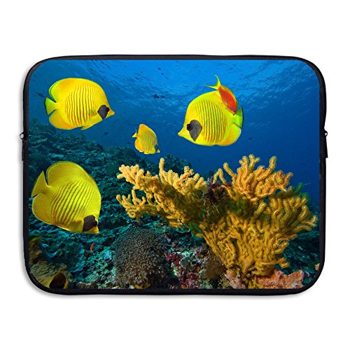 Bxse Underwater Fishes Tropical Ocean Sea Reef Laptop Bag Liner Bag Laptop Computer Sleeve Portable Notebook Liner Package Laptop Pack Tablet Case Computer Accessories For Macbook Air Pro