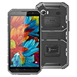 AMA(TM) 6inch Kenxinda Proofings W9 4G Smartphone Cellphone - Unlocked Android 5.1Phablet MTK6753 64bit Octa Core 1.3GHz IP68 2GB RAM 16GB ROM IP68 GPS WIFI Bluetooth 4.0 Android Phone (Gray)