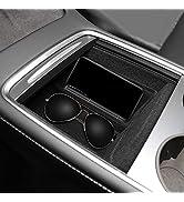 Basenor 2021 Tesla Model Y Model 3 Center Console Organizer Tray Accessoies with Sunglass Holder ...