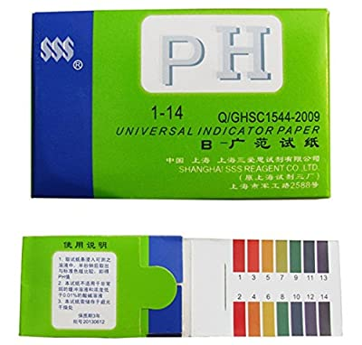 80x Test Preeminent Popular pH Tester Strips Universal Urine & Saliva Body Water Practical with Color Chart