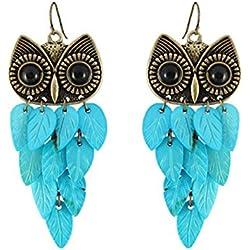 Lucrative shop Orecchini Earings Classic Animal Fashion New Shell Charm Long Owl Earrings For Women Hot Sales Jewelry Wholesale