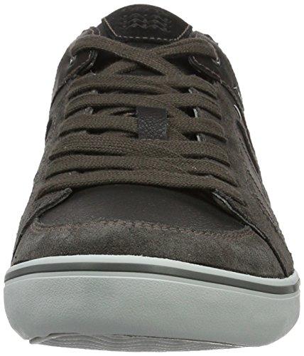 Geox U Box F, Zapatillas para Hombre Negro (anthracite/blackc9211)