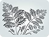 """Tree Fern Stencil - (Size 14.5""""w x 10.5""""h) Reusable Wall Stencils for Painting Wall Art Décor Ideas - Use on Walls, Floors, Fabrics, Glass, Wood, Terracotta, and More…"""