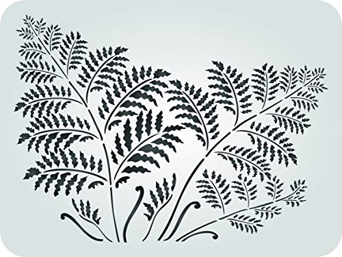 "Tree Fern Stencil - (Size 14.5""w x 10.5""h) Reusable Wall Stencils for Painting Wall Art Décor Ideas - Use on Walls, Floors, Fabrics, Glass, Wood, Terracotta, and More… by Stencils for Walls"