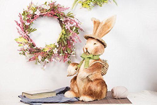 Evertrust-Artificial-Easter-Spring-Summer-Seasonal-Silk-Flower-Wreath-Wall-Door-Hanging-Decorations-22-inches-wreath