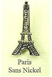 Souvenirs of France - Paste Eiffel Tower Pin