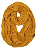 S1-6100-72 Funky Junque Infinity Scarf - Mustard (Solid)