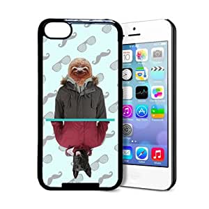 Hipster Style Mirror Dog & Sloth iPhone 5c Case - Fits iPhone 5c