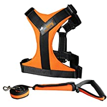 Pet Step-in Harnesses Easy Walk Harness Vest for Dogs with Handle for Large Dogs, 2 Pieces Orange,X-large