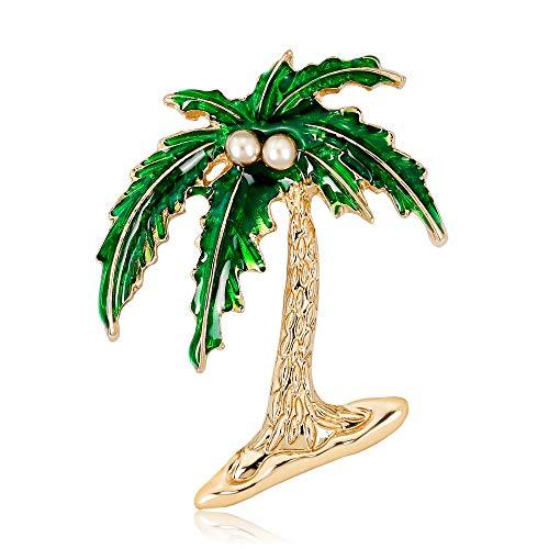 (estinko Halloween Brooch Coconut Tree Pattern Clothing Ornament Pin)
