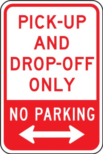 Arrow Sign Double (Accuform FRP145RA Engineer-Grade Reflective Aluminum Parking Sign, Legend