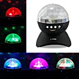 abcGoodefg® Disco Ball Speakers Bluetooth with Built-In Light Show(Universal & Rechargeable):Special Effects Lighting / Auto-Rotating Color Changing Disco Light Show, Great for Party. (Black)