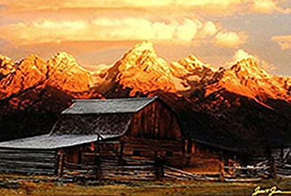Barn in the Mountains photographic print poster
