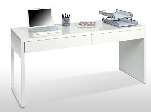 SERMAHOME- Mesa Escritorio con 2 cajones Reversible. Ideal para ...