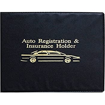 Leather Car Registration And Insurance Holder