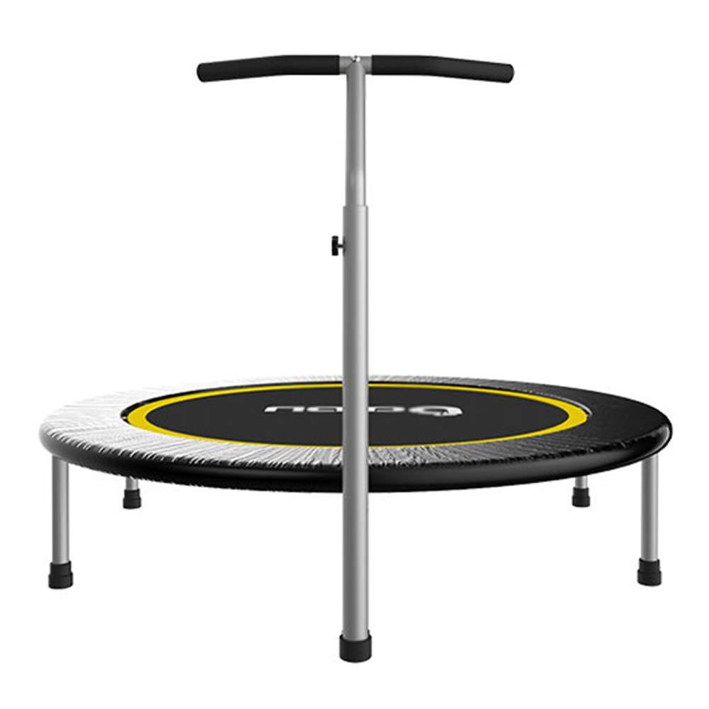 Trampolin, 48-Zoll-Mini-Fitness-Trampolin mit verstellbarem Handlauf für Erwachsene/Kinder - Ideal für den Innen- oder Außenbereich - Max Load 250KG