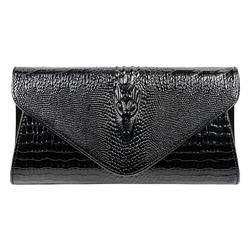 Bidear Envelope Clutch Purse Genuine Leather Party Handbag Evening Bags for Women ()
