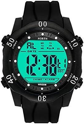 LogobeingDigital Reloj Deportivo,Reloj Impermeable Del Deporte Del Cuarzo Militar Del Ejército Baratos (Blanco)