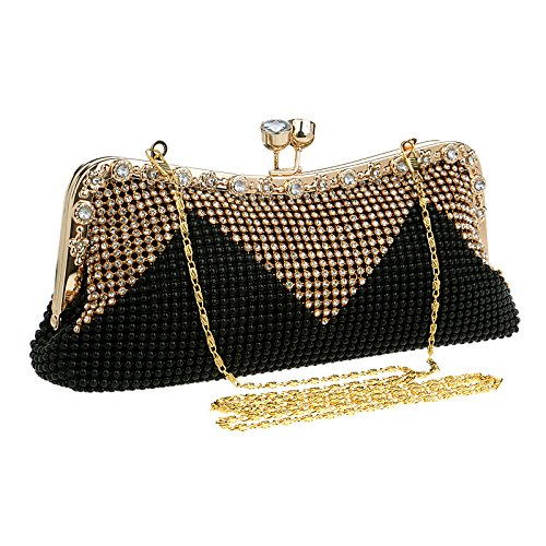 Bourse la Sac Sac bandoulière Violet Noir Diamant Hungrybubble de des Femmes soirée de d'embrayage du de d'embrayage Sac Bourse de de à de Sac YPq6I