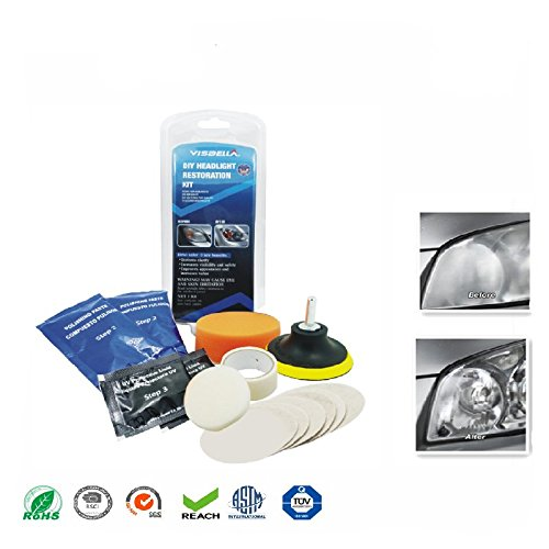 ETbotu Car Headlight Lens Restoration Kit System Professional Restorer Repair Polishing Protection Tool Kit