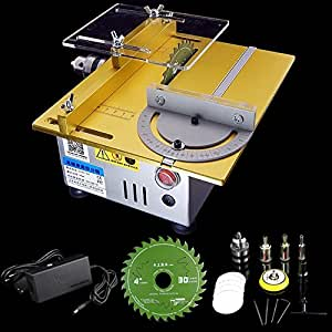 Multifunction Mini Table Saw Handmade Woodworking Bench Lathe Electric Polisher Grinder Cutting Saw