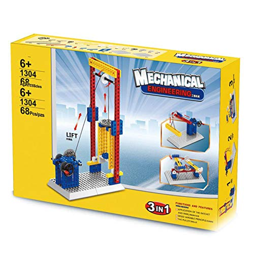 (HJRHH-R 3 in 1 Mechanical Engineer Building Blocks Teaching Aid Toys Windmill Round Lift Toys Educational Toys)