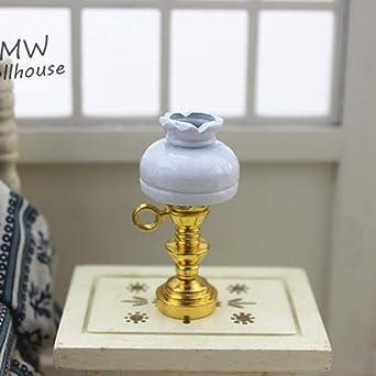 Mobestech 1:12 diy iluminación de la casa de muñecas lámpara de ...