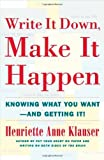 Write It Down Make It Happen