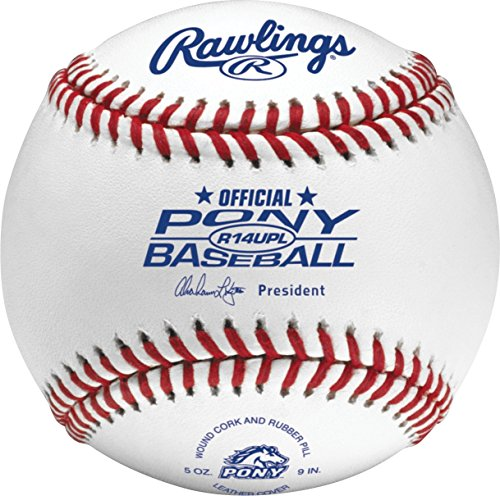 Rawlings PONY League League Play Baseballs, (Box of 24), R14UPLSW2-24 by Rawlings