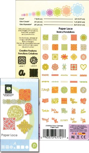 Cricut Cartridge, Paper Lace (Cartridge Cricut Paper)