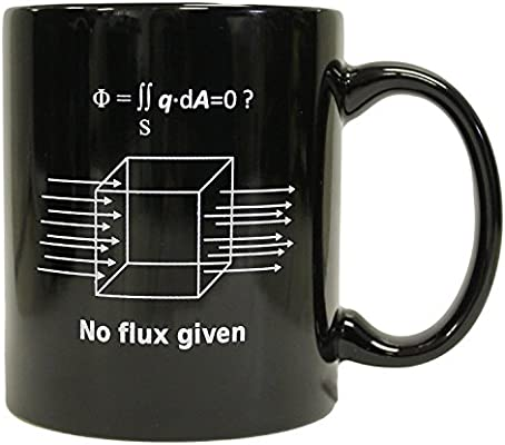 No Flux Given Funny Science Physics 11 Oz Ceramic Coffee Mug 11 Ounce Black Cominhkg057614 Buy Online At Best Price In Uae Amazon Ae